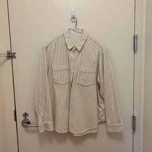 madewell cotton stripe button down